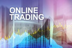 Online trading, Forex, Investment and financial market concept. royalty free illustration