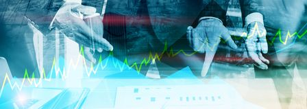 Online trading, Forex, Investment and financial market concept. royalty free stock photography