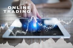 Online trading. internet investment. Business and technology concept. Online trading. internet investment. Business and technology concept Stock Photography