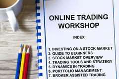 Online trading Stock Photography