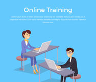 Online Training Banner Design Concept Royalty Free Stock Photo