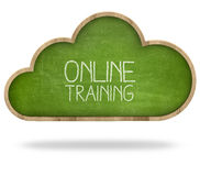 Online training and Cloud computing concept Royalty Free Stock Images