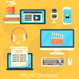 Online training concept Stock Photography