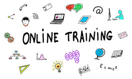 Online training concept on white background Stock Photography