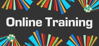 Online Training Dark Colorful Elements Stock Image