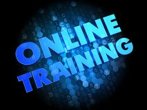 Online Training on Dark Digital Background. Royalty Free Stock Image