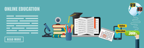 Online Training Education Concept Banner Royalty Free Stock Photo