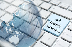 Online training Royalty Free Stock Photo
