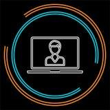 Online Training icon. element illustration. royalty free illustration
