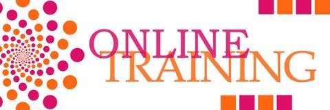 Online Training Pink Orange Dots Horizontal Royalty Free Stock Images