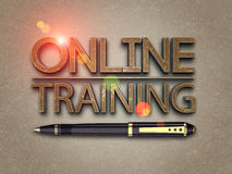 Online training Stock Photography