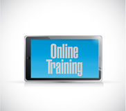 online training text sign illustration design Royalty Free Stock Photos
