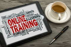 Online training word cloud Stock Photo