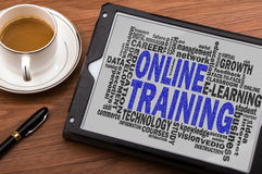 Online training word cloud Stock Image
