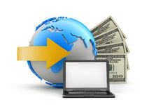 Online transactions - concept illustration royalty free stock photos