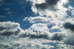 Online translator bright blue sky. With clouds and clouds Royalty Free Stock Photography