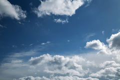 Online translator bright blue sky. With clouds and clouds Royalty Free Stock Photo