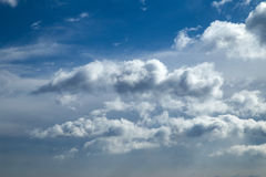 Online translator bright blue sky. With clouds and clouds Royalty Free Stock Photos