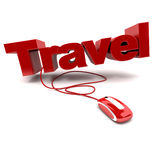 Online travel Stock Images