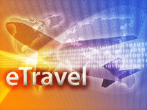 Online travel Royalty Free Stock Image