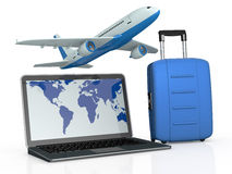 Online travel booking Stock Photos