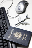 Online travel concept still life Royalty Free Stock Photography