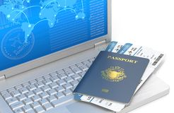 Online Travel. Royalty Free Stock Image
