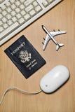 Online travel still life concept Stock Photos