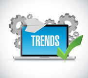 Online trends computer concept illustration Stock Photo