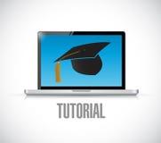 Online-Tutorial Konzeptillustrationsdesign Lizenzfreie Stockbilder