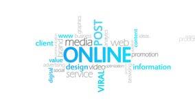 Online, Typografieanimatie stock illustratie