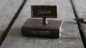 Online universities idea stock video