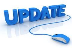 Online updateconcept Stock Foto