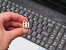 Online uprawiający hazard zdjęcia stock