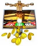 Online uprawiający hazard Zdjęcie Stock
