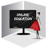 Online-utbildning Arkivfoton