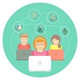 Online-utbildning för ungar Arkivfoto