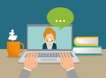 Online-utbildning och eLearning vektor illustrationer