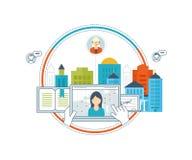 Online-utbildning och kurser Teamwork kommunikation Strategiaffär Arkivfoton