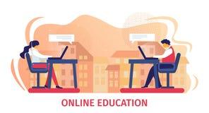 Online-utbildningshorisontalbaner royaltyfri illustrationer