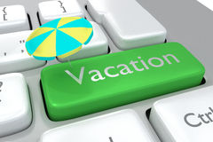 Online vacation order key Royalty Free Stock Photography