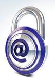 Online veiligheid voor de handel van Internet stock illustratie