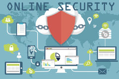 Online veiligheidsconcept vector illustratie