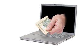 Online verdienend Stock Afbeelding