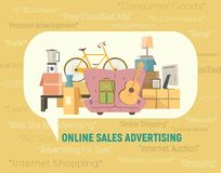 Online verkooppictogram stock illustratie