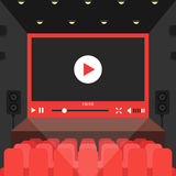 Online video in cinema theater Stock Image