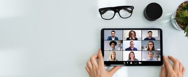Free Online Video Conference Meeting Call Or Webinar Stock Images - 189288704