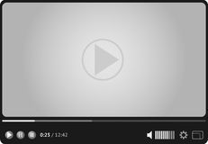 Online video player for web stock illustration