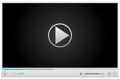 Online video player for web in light colors vector illustration