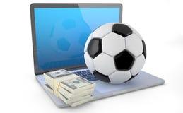 Online Voetbal het Wedden Concept Stock Foto's